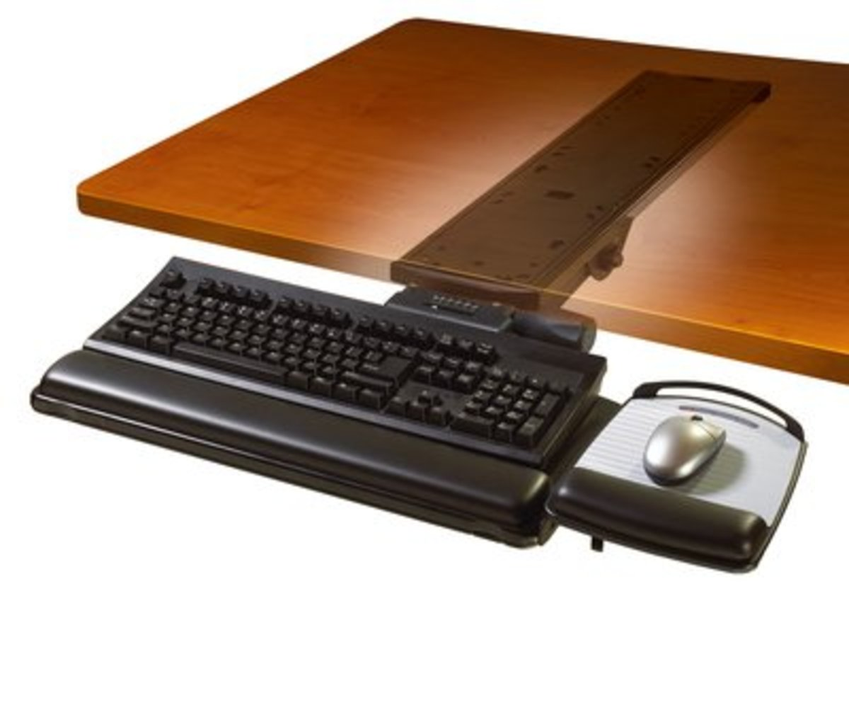 AKT150LE Easy Adjustable Keyboard Tray