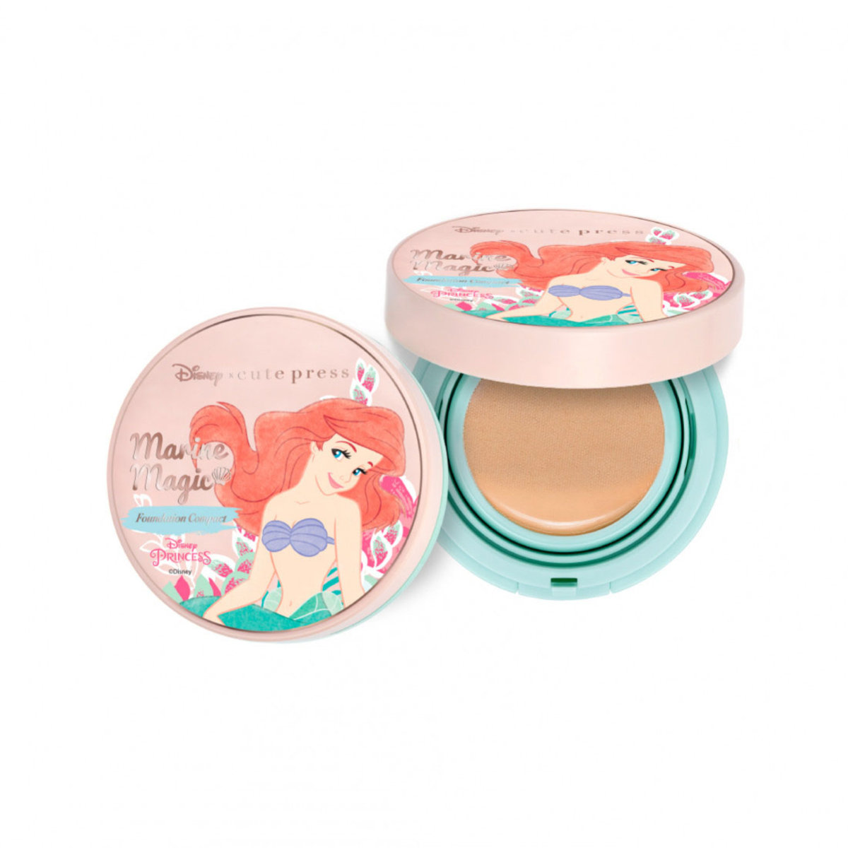 The little Mermaid marine Foundation Compact T2 Natural Beige