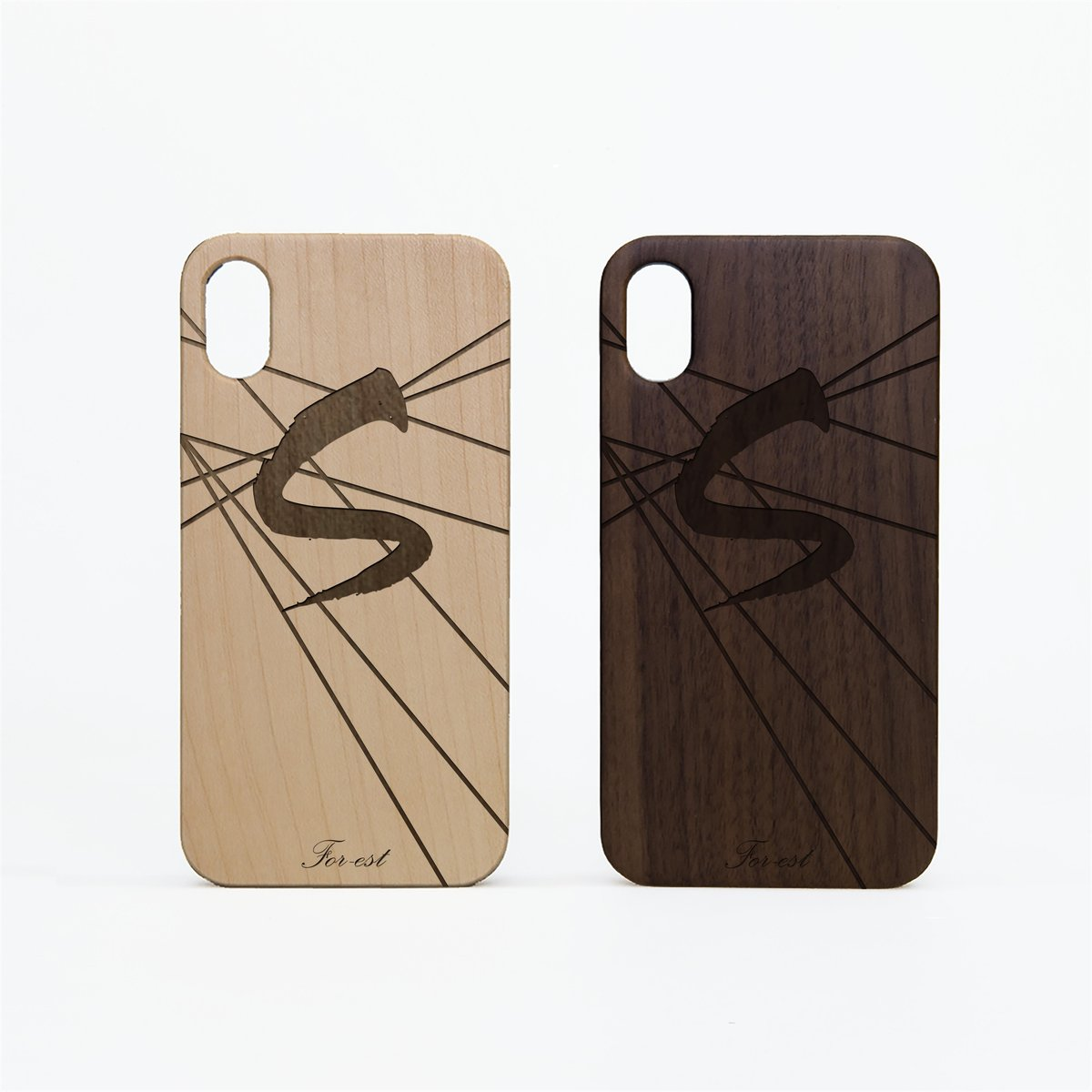 TPU Wood Case Letter S