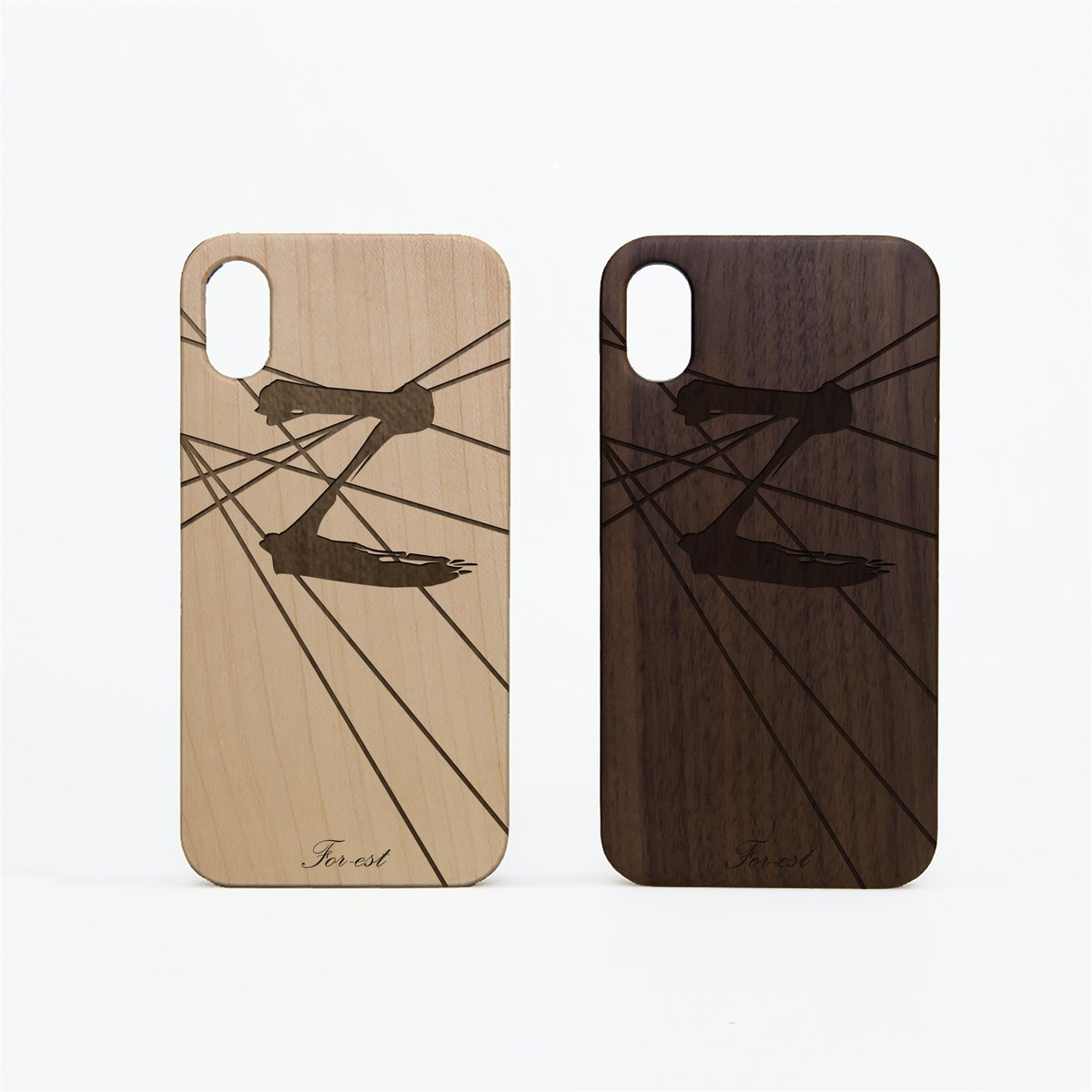 TPU Wood Case Letter Z