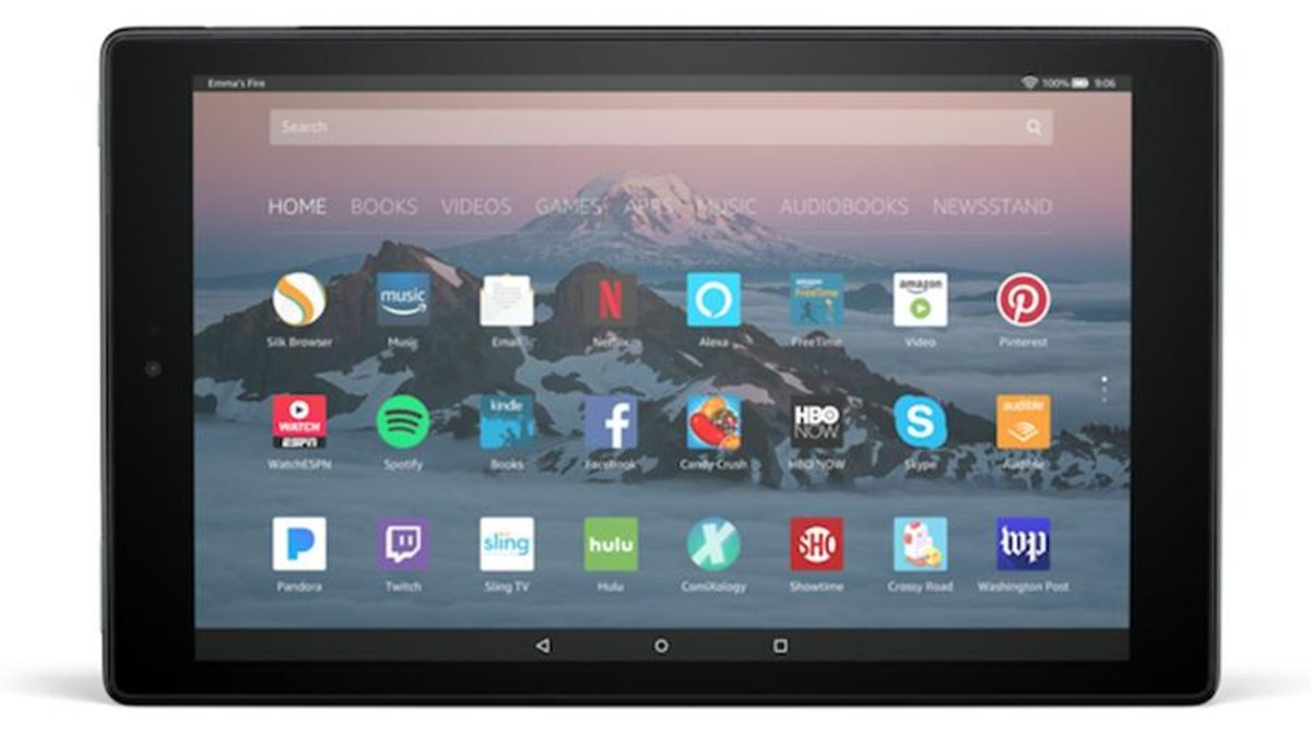 "Fire HD 10 7th Gen 10.1"" 32GB HD Display Tablet with Alexa Voice Conrtrol 黑色 (平行進口)"