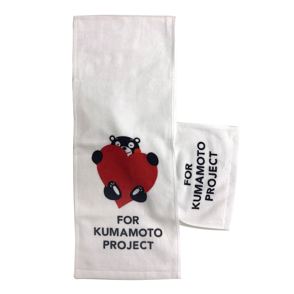 KUMAMON Heart Pattern Muffler Towel (White)