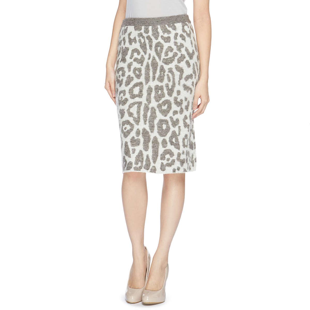 動物斑紋提花緊身裙