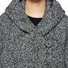 Tweed herringbone showl collar coat