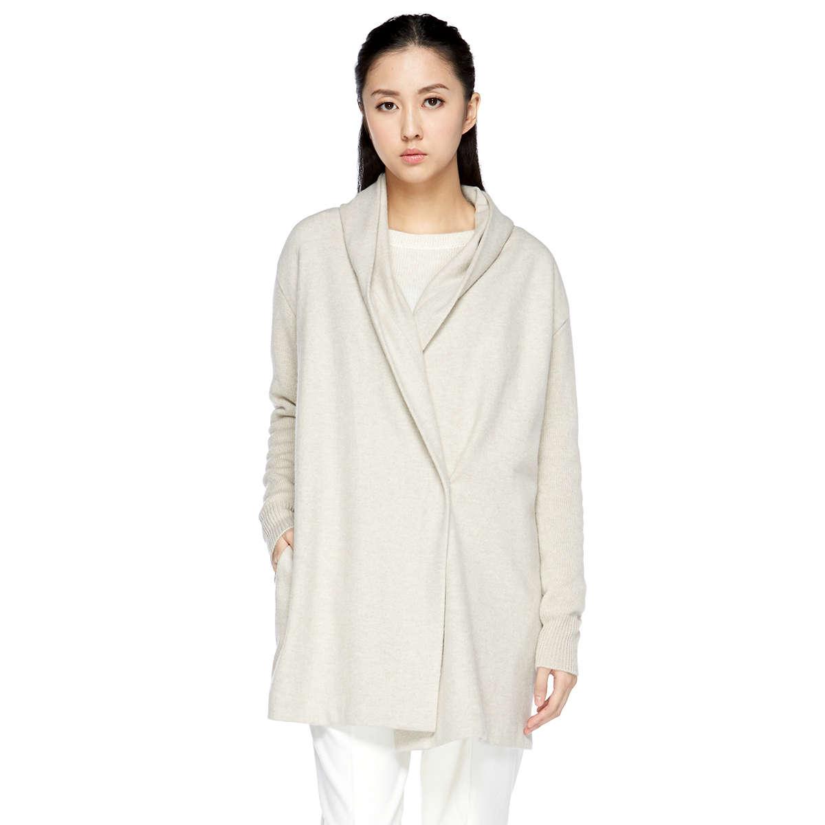 圍巾領羊毛大衣