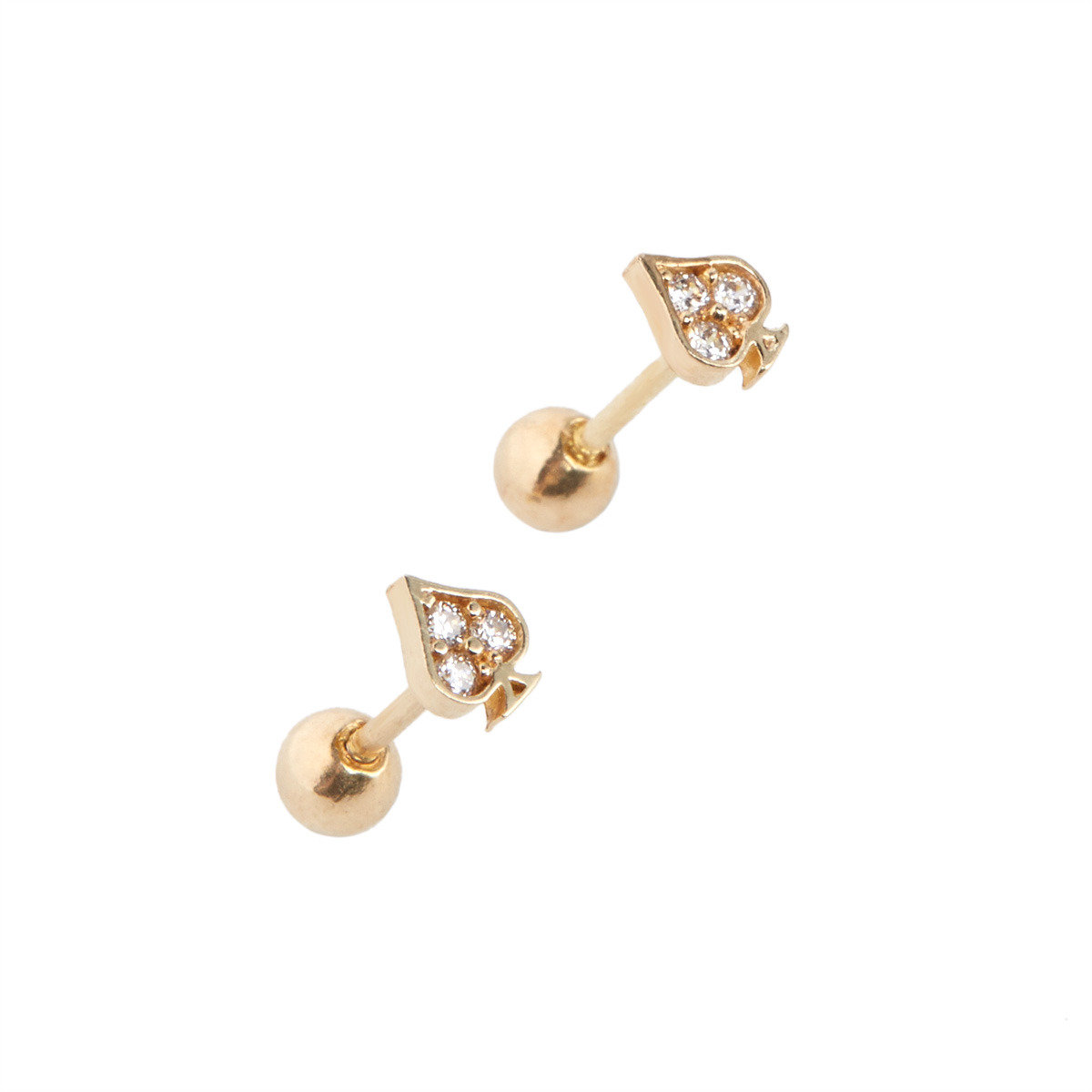 Spade earring (Single piece)_FE4244