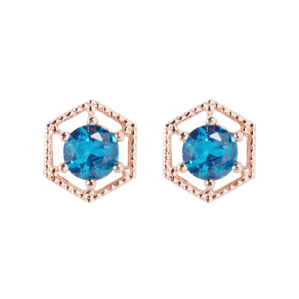 Hextagon earrings_FE5449