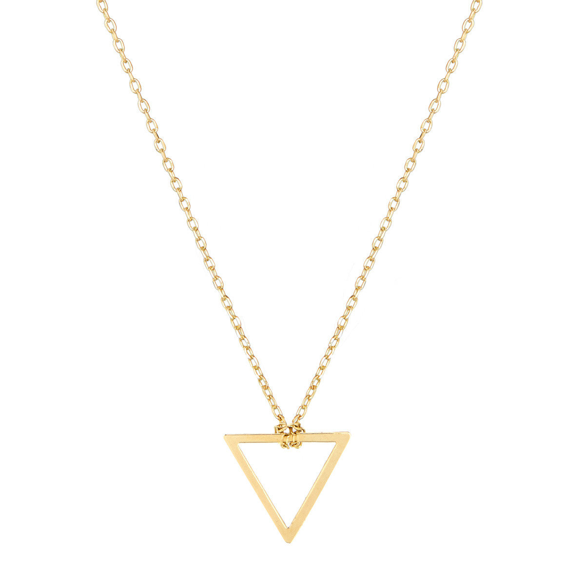 Triangle-shaped design necklace_FP1261