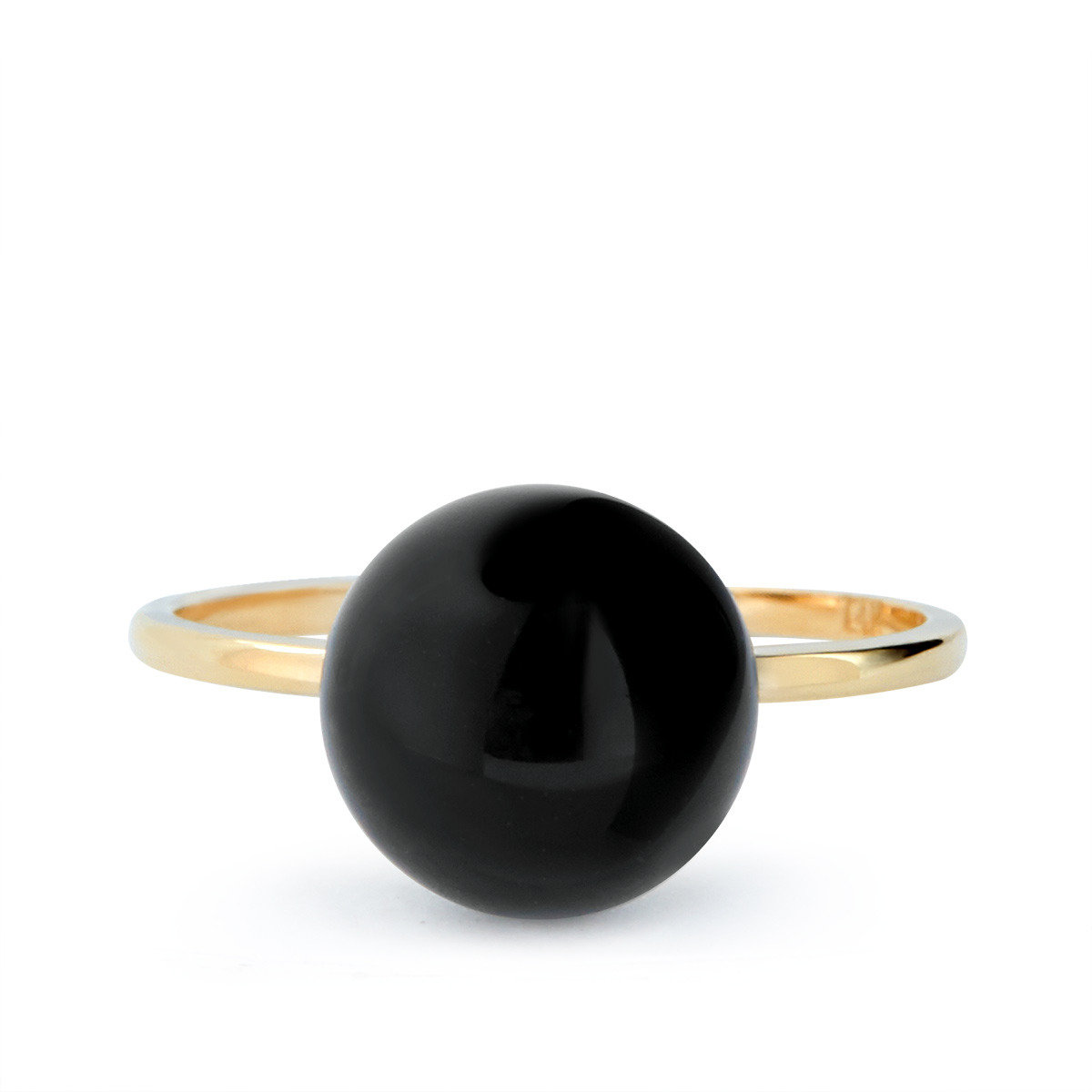 Black bead ring_FR0428