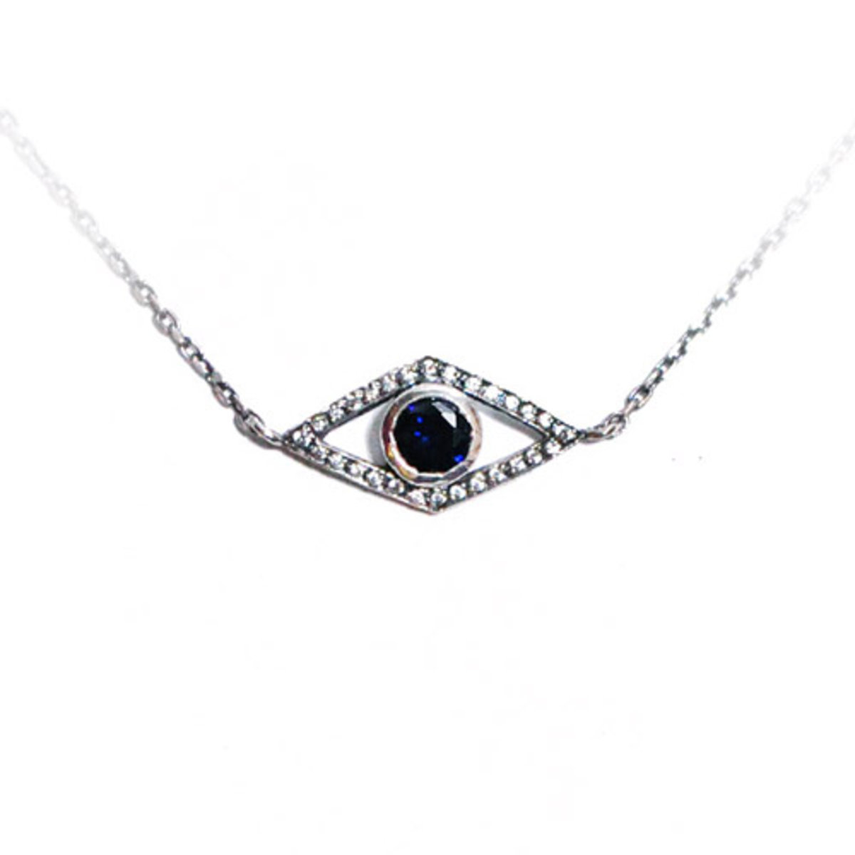 eye cubic necklace - blue
