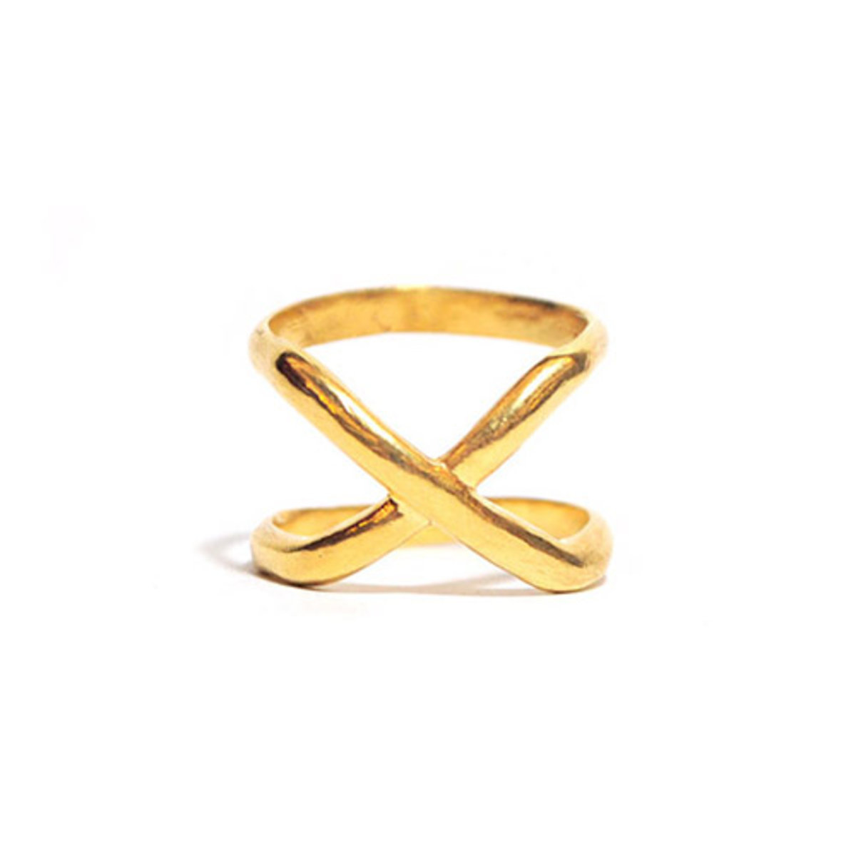 x ring - gold
