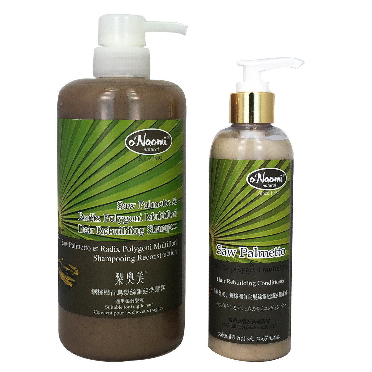 Saw Palmetto Hair Rebuiliding Shampoo 800mlx1 & Treament 240mlx1