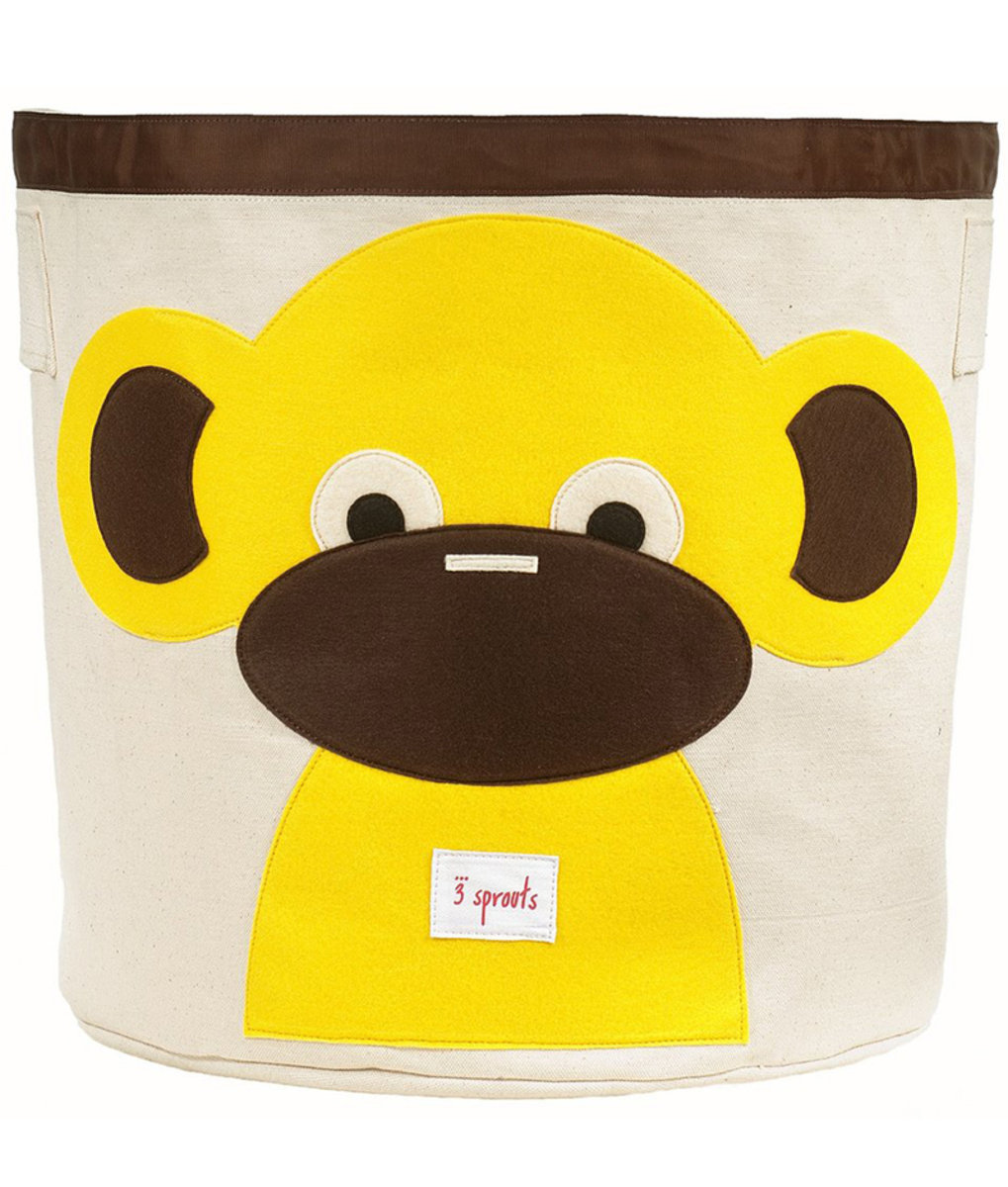 3 Sprouts Storage Bin - Yellow Monkey