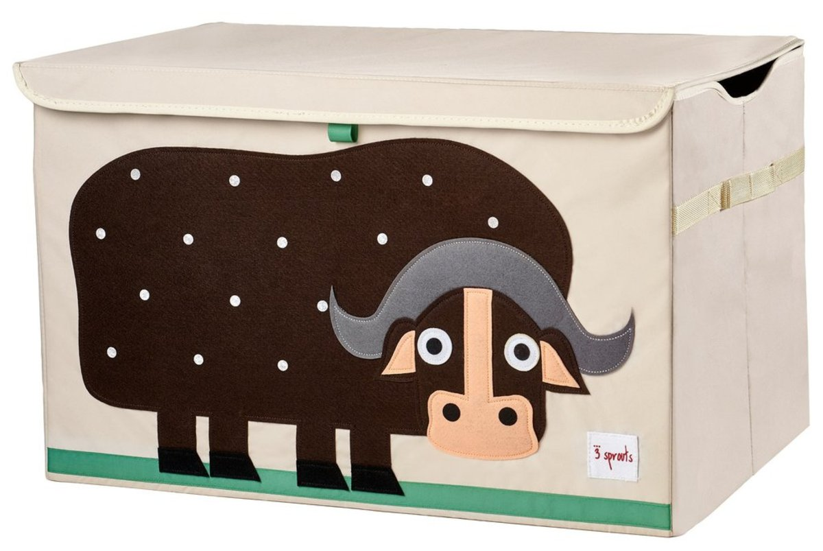 3 Sprouts Toy Storage - Brown Buffalo