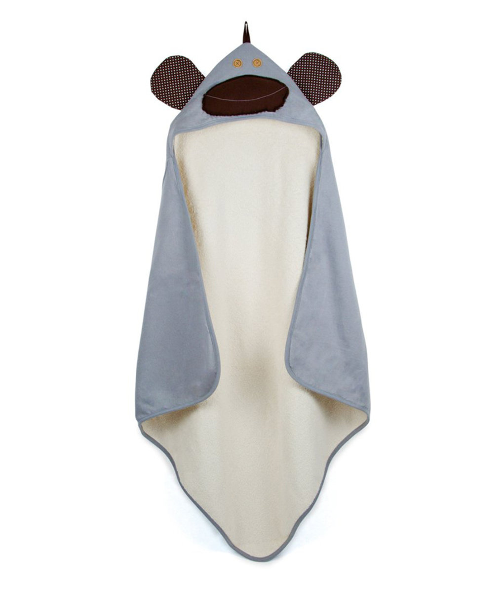 3 Sprouts Hooded Towels - Grey Monkey