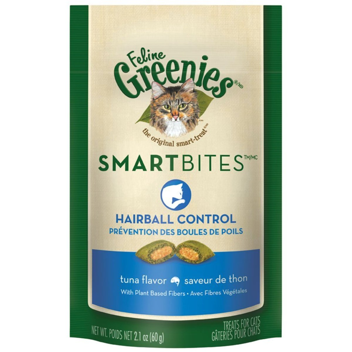 Feline Greenies Tuna SmartBites Hairball Control for Cats 2.1oz