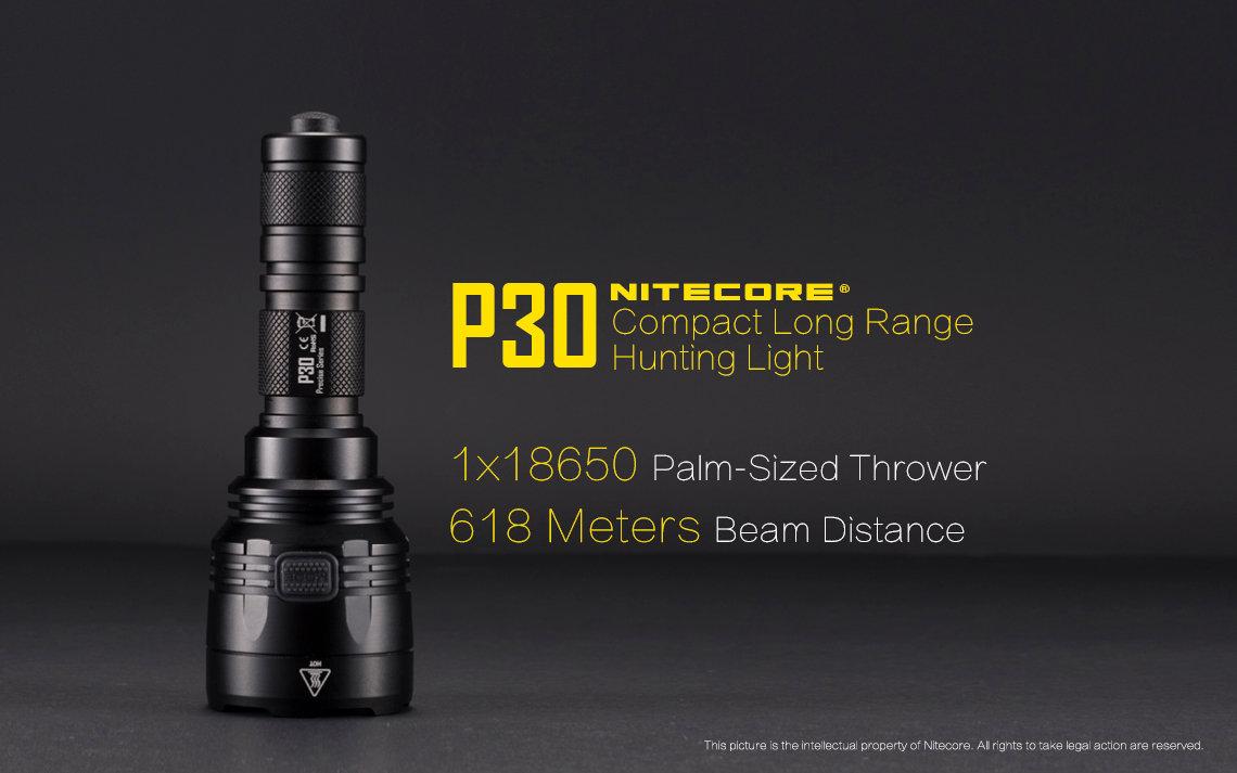 Nitecore P30 V3 Led Flashlight 1000lm 618m Beam Distance Hk Circuit Light Longrange Hiking Camping Torch Photo