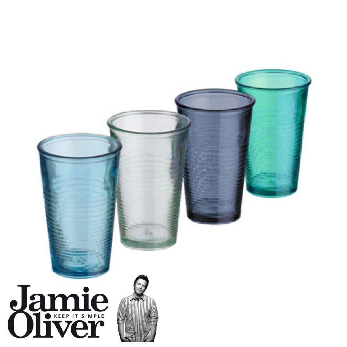 English Jamie Oliver Recycled Glass Set of 4