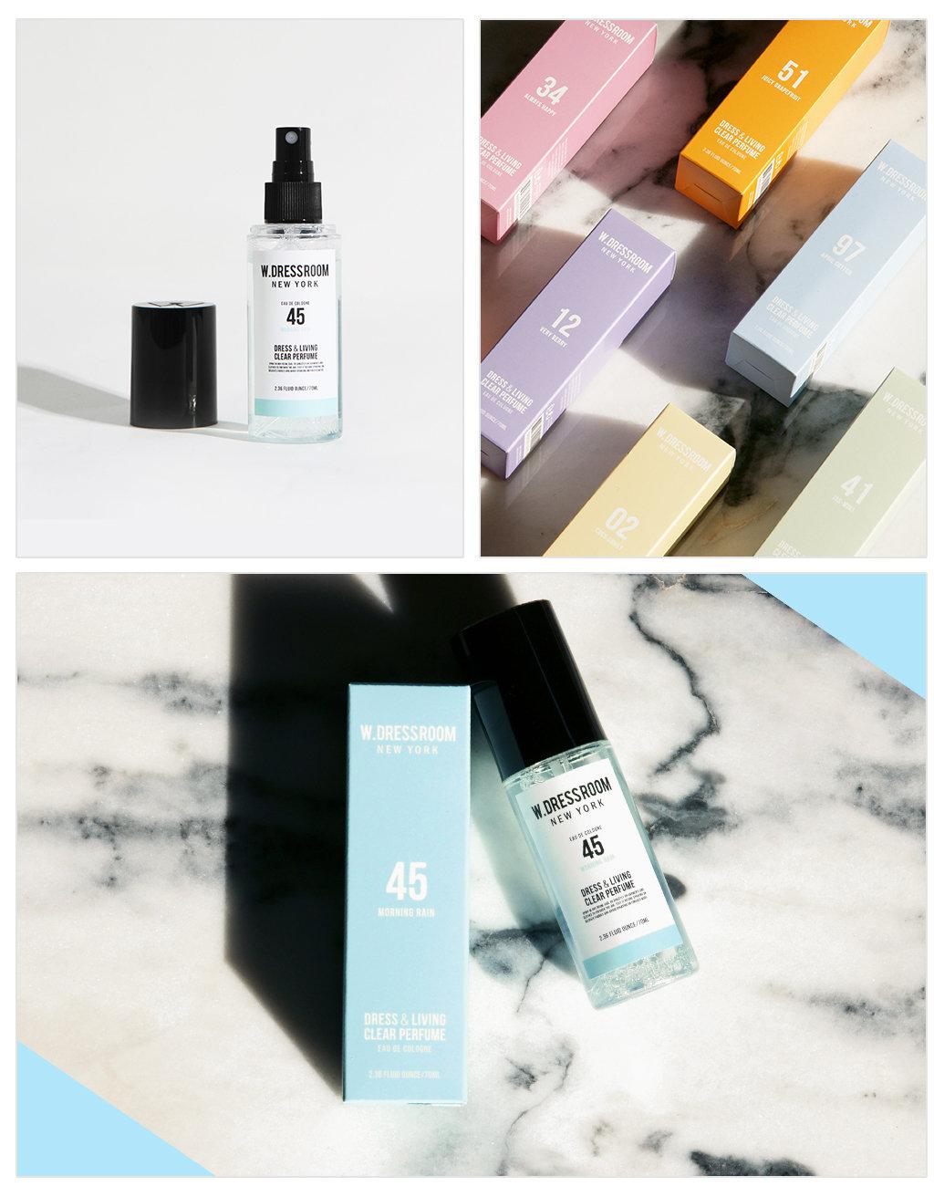 Photo. Description. DESCRIPTION Brand: W. Dressroom Product: W. Dressroom Dress & Living Clear Perfume #45 Morning Rain 70ml