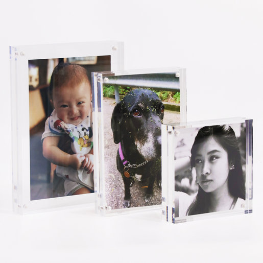 Acrylic Magnet Photo Frame, Picture Frame-10x10cm, 4x4