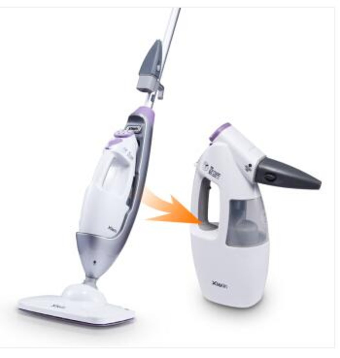 Steam Mop & Portable Steam Cleaner (2-in1 design) 7688M with cleaning parts 7688A
