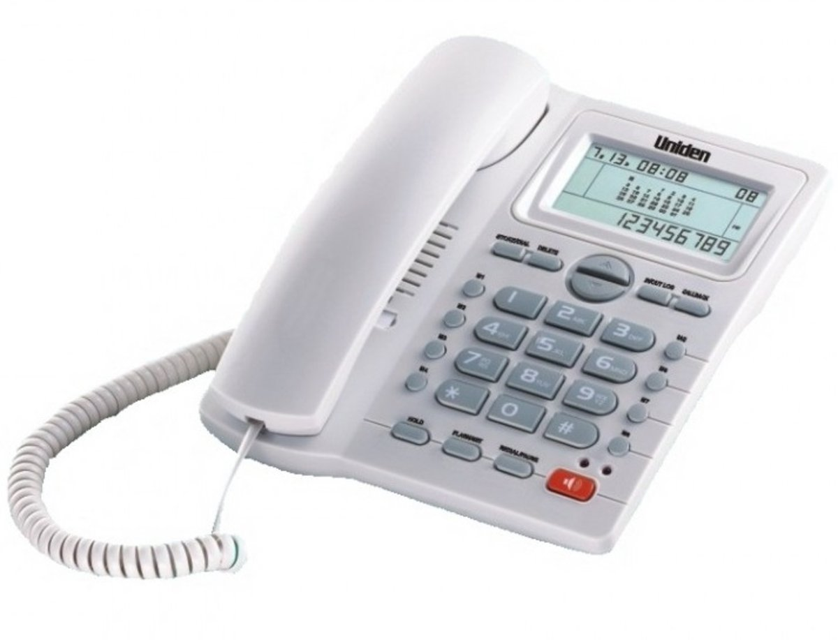 Corded Telephone Caller ID AS7412 White