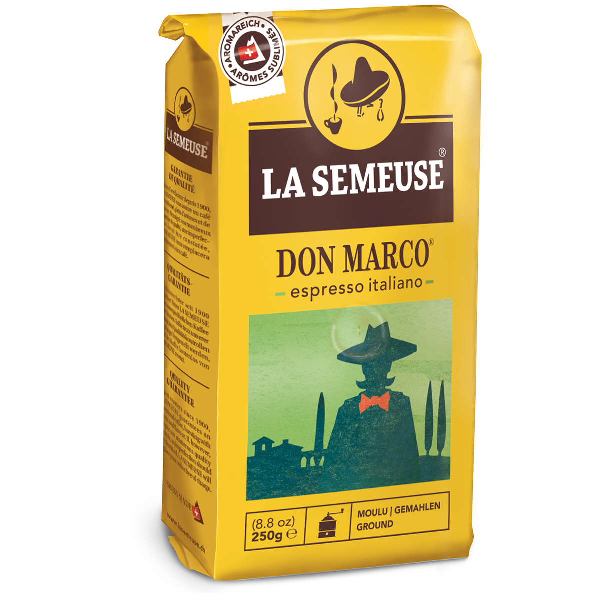 Don Marco Swiss Ground Coffee, Premium Coffee, 80% Arabica Coffee, Best before date: 28.01.2021