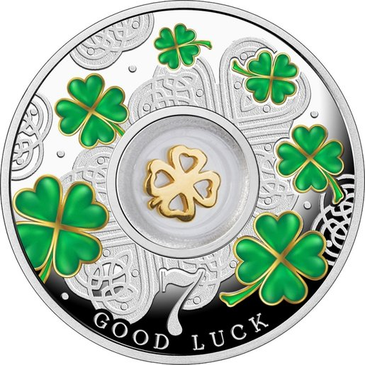 Republic of Cameroon 2016 Lucky Seven Series-Seven Four Leaf Clovers Proof Silver Coin 14.14 gram