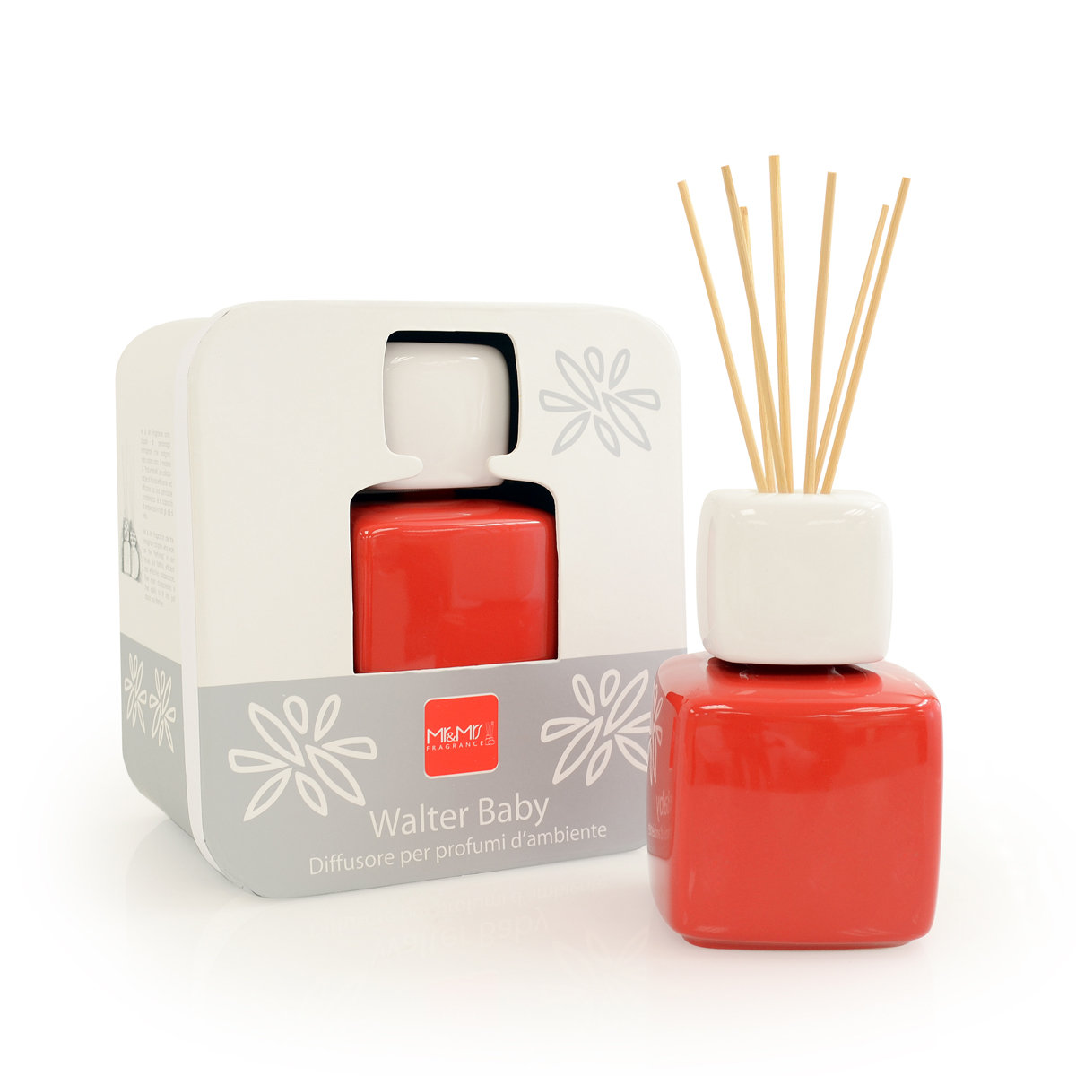 BABY WALTER Ceramic Fragrance Reed Diffuser - Red