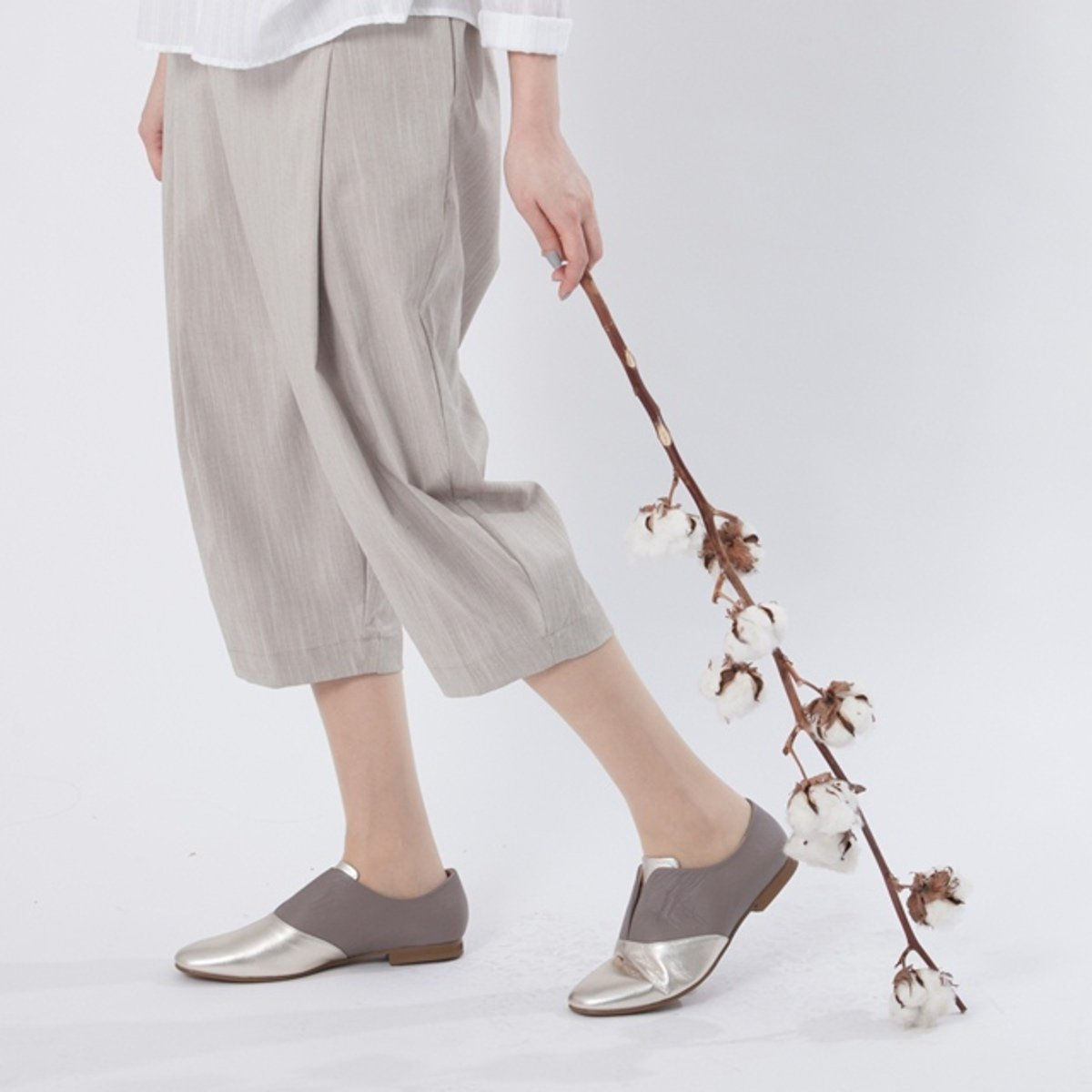 Glen asymmetry harem pants / Mocha